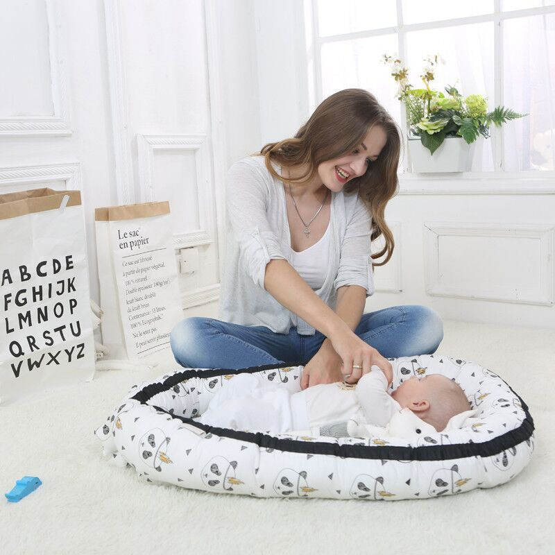 Cute Baby Middle Bionic Bed Washable Portable Cotton Cradle Bumper Multiple Styles Travel Isolation Bed 0-3Y Newborn Baby Bed