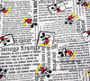 140 100cm Mickey Newspaper Seersucker Fabric Baby Boy Summer Clothes Pants Sewing Patchwork DIY AFCK446