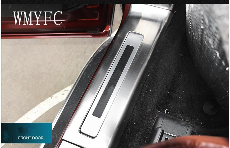 Stainless Steel Door Sill Scuff Plate Trim 4PCS Fit for Ford Explorer 2016 2017 year