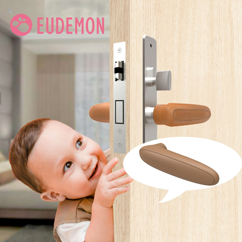 EUDEMON Door Handle Knob Silicone Doorknob Safety Cover Guard Protector Baby Protector Child Protection Products Anti-collision