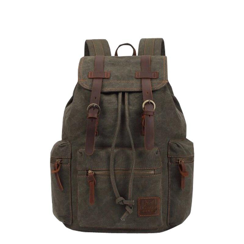 1db970d9c5 KAUKKO New Vintage Backpack Fashion Canvas Backpack Leisure Travel School  Bags Unisex Laptop Backpacks Men Backpack Mochilas-in Backpacks from  Luggage ...