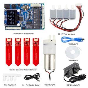 Image 4 - Elecrow Kit automático de agua para plantas Sensor de humedad de suelo Arduino, bricolaje, autoriego, Kit inteligente de agua para plantas