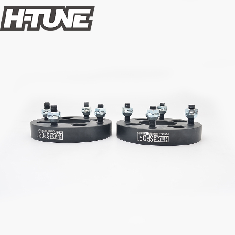 H-TUNE 4PCS Forged Aluminum Black 4x100 to 4x114.3 67.1CB 25mm Wheel Spacers fit for most 4 Lug 4pcs billet 4 lug 14 1 5 studs wheel spacers adapters for kia cerato