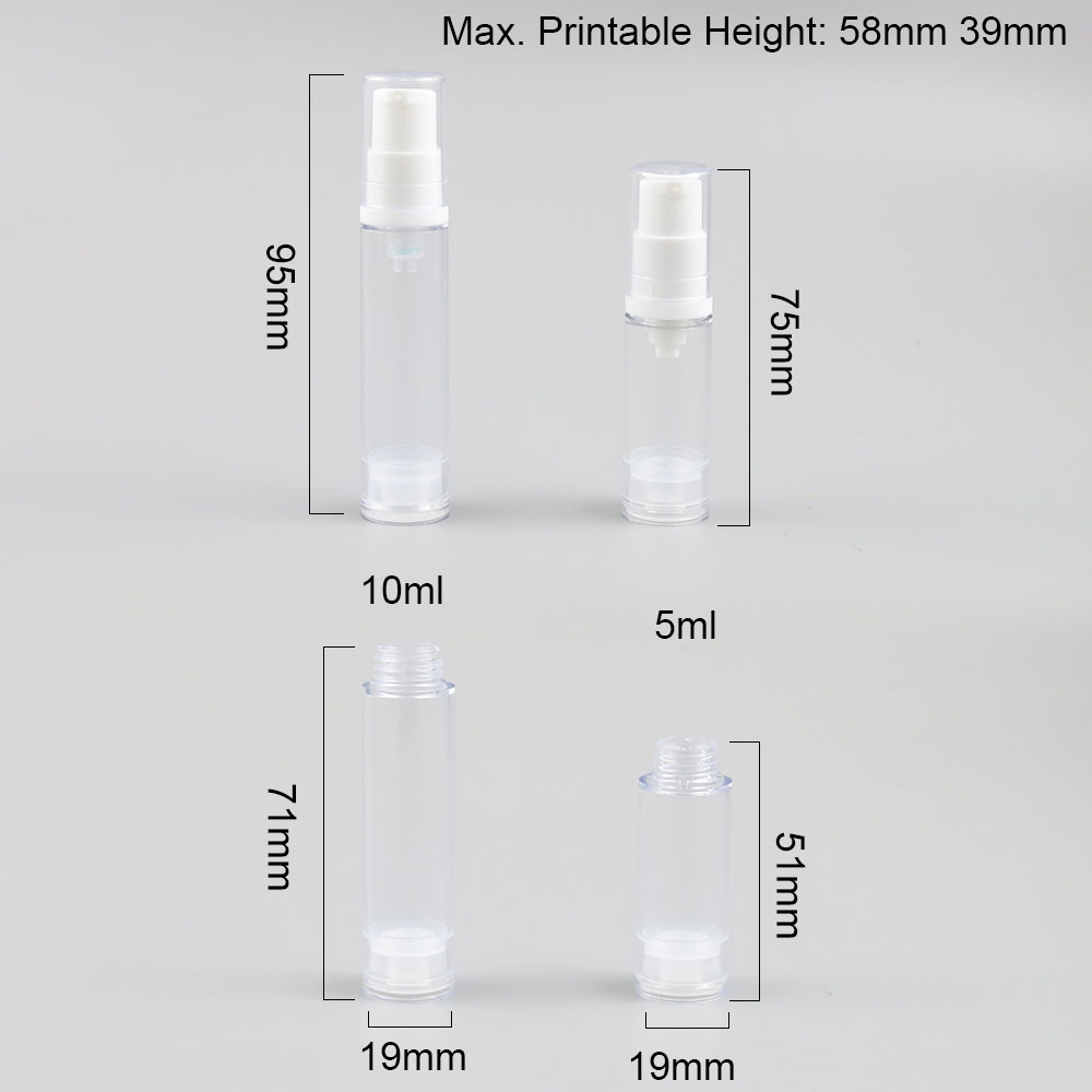 Купить с кэшбэком 30 x 5ml 10ml Free shipping Travel Cute Eye Cream Emulsion Airless Bottle 5cc 10cc Small Vacuum Eye Cream Toiletries Containers