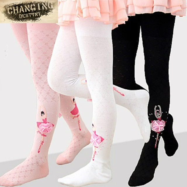 17ec1bee5 3-7 Years Old Spring Summer Girls Tights Ballet Princess Stockings Mesh  Hollow Cotton Dance Knitting Bottom Stockings