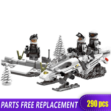 XINGBAO 06009 Genuine 290PCS Military Series The Extreme Snowmobiling Set Building Blocks Bricks Toys for Kids Compatible LOGOS
