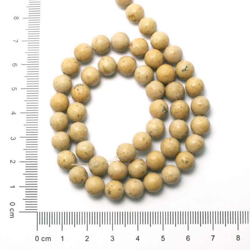 """新しい到着4/6/8/10ナチュラルラウンド宝石石砂ビーズカーキビーズピックサイズ15 """"diyのためのファッションチャームジュエリー作りBTB755"""