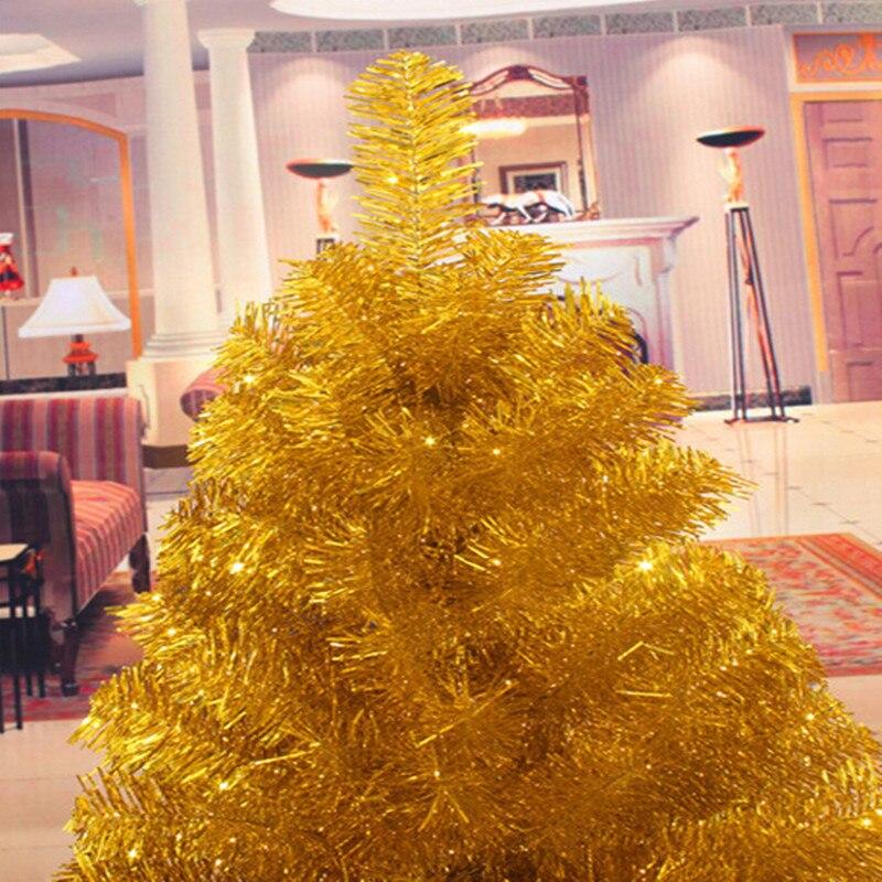 4 Sizes Santa Claus Tree PVC Material Gold Christmas Tree XMAS Party Decoration Christmas Tree MCC252-257