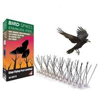 5PCS Stainless Steel Bird Repeller Thorns Anti Bird Anti Dove Spikes Pest Control Orchard Bird Catcher Pigeon Repellent Nails