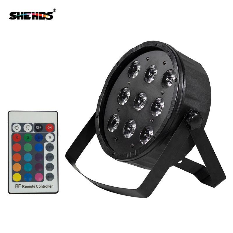Fast Shipping Wireless Remote Control LED Flat Par 9x12W RGBW Lighting Disco Light DMX Controller luces discoteca Free Shipping цена
