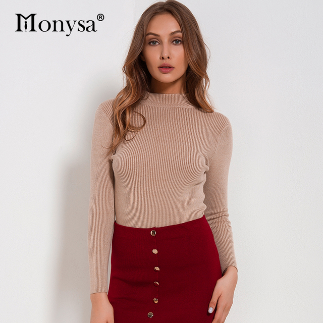 Women Sweaters And Pullovers 2018 New Autumn Winter Clothing Casual Knitted Women Tops Long Sleeve Basic Sweaters For Women