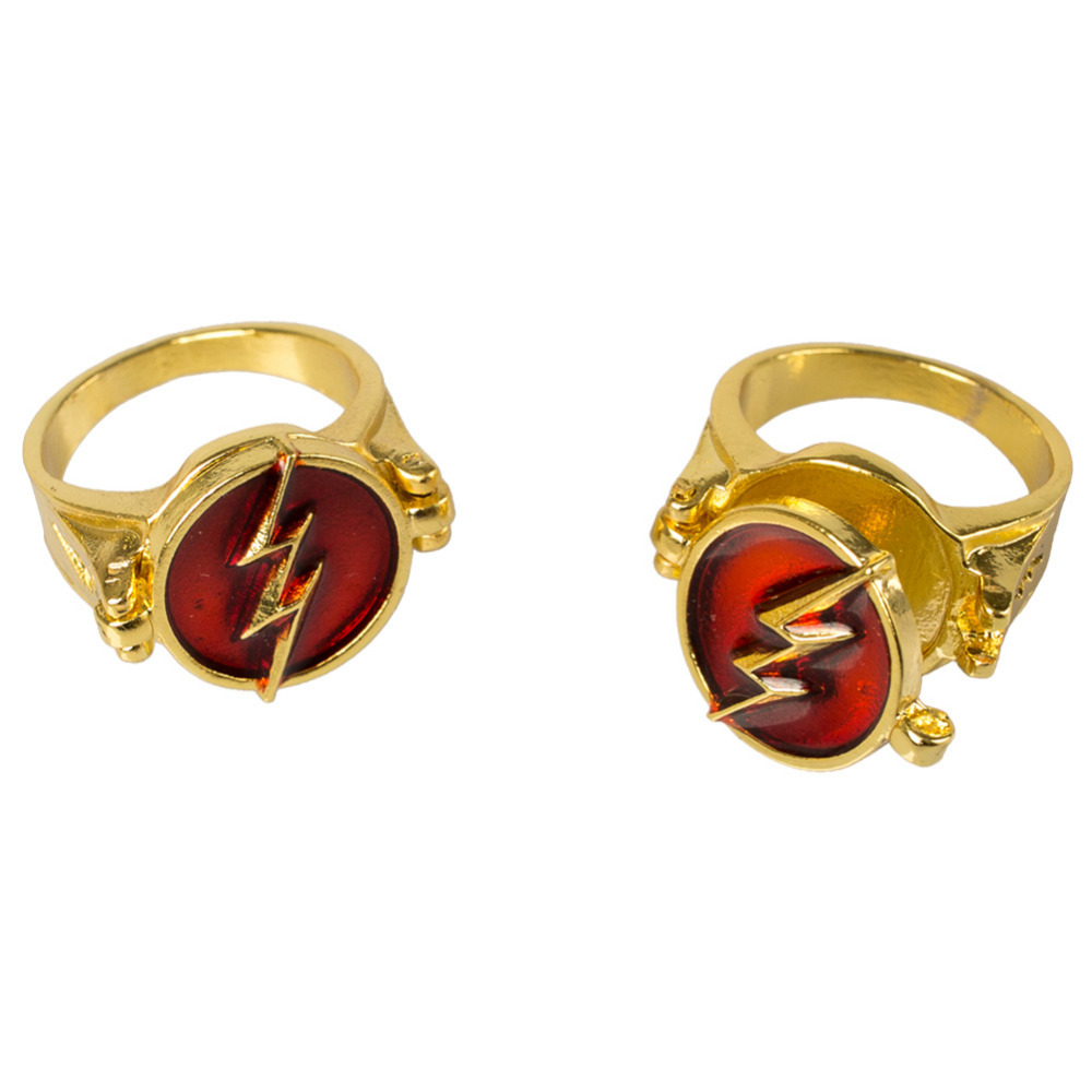 DC Comics Justice League The Flash Rings Woman Man Superman Jewelry Flashman lighting Ring Gold Zinc alloy Ring