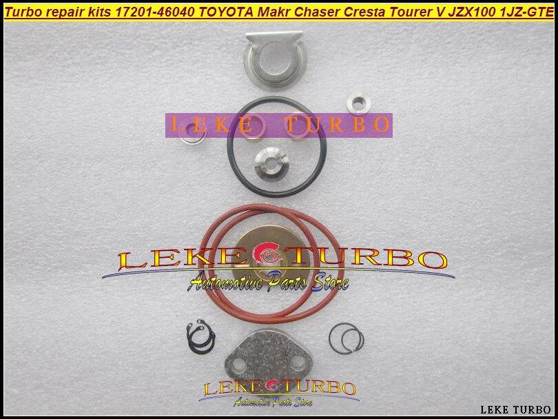 CT15B Turbo repair kits turbocharger kit 17201-46040 1720146040 For TOYOTA Makr Chaser Cresta Tourer V JZX100 1JZ 1JZ-GTE turbo t88 t88 33d 49174 00890 49174 00890 universal turbo turbocharger 1 05 ar t4 flange oil journal bearing 97mm v band 1000hp