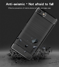 MOFi Phone Cases For Sony XZ4 Compact Mini Case Armor Shockproof Cover Carbon Fiber Silicon TPU