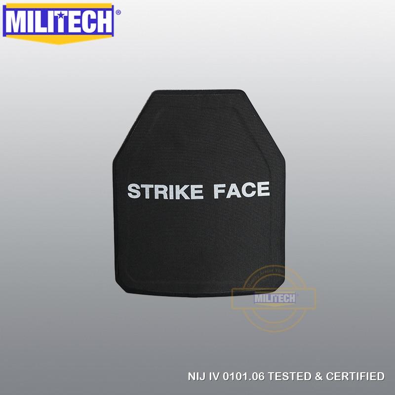 MILITECH SIC & PE Multicurve NIJ IV Bulletproof Plate Multi Curved NIJ IV Stand Alone Ballistic Panel NIJ Lvl 4 Composite Armor