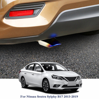 Car Exhaust Muffler Tip Trim Modified Car Rear Tail Throat Liner For Nissan Sentra Sylphy B17 2013 2019 Rear Tip Throat