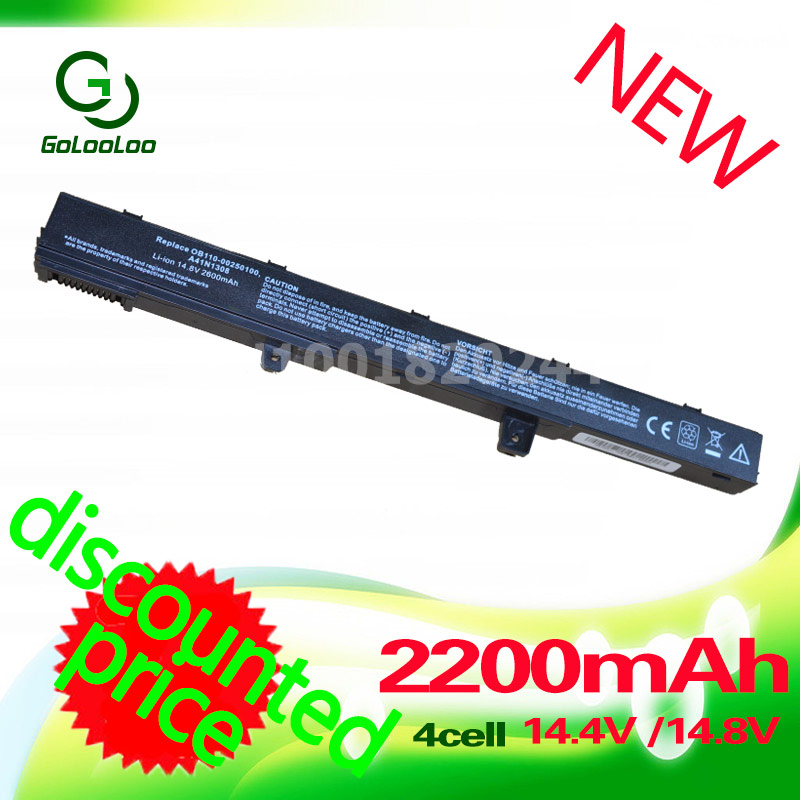 все цены на  Golooloo laptop battery A31N1319 X551M A41N1308 A31LJ91 for Asus X451CA X451 X551 X451C X451M X551C X551CA 0B110-00250100  онлайн