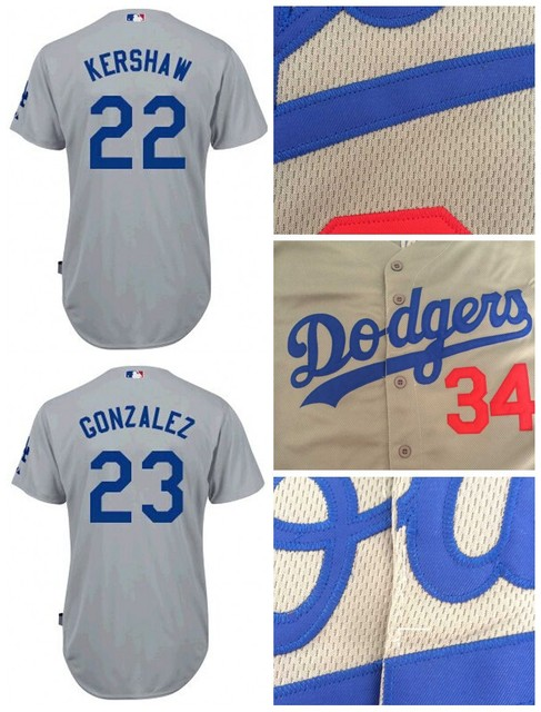 eb32ebcf3 Women Los Angeles Dodgers Jersey 22 Clayton Kershaw 23 Adrian Gonzalez  Baseball Jersey Name and Number stitched Embroidery logos