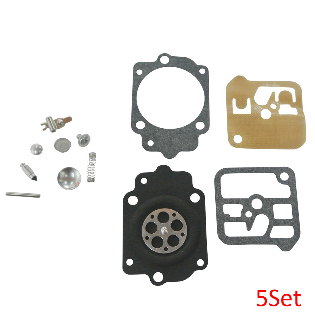 Carburetor Repair Diaphragm Tillotson RK-1HE Kit For Jonsereds 535 HE-12A 5Set