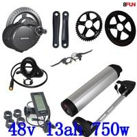 بافانغ BBS02 750 W 48 V 8Fun الدراجة طقم موتور كهربائي دراجة نارية الكهربائية مع 48 v 13ah دراجة كهربائية بطارية مع 54.6 v شاحن