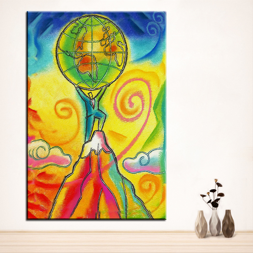 ᗚLarge size Printing Oil Painting leader Wall painting Home ...