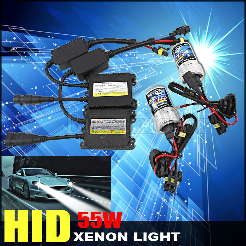 Xenon HID conversion kit 55W H1 H3 H7 H8 H10 H11 H9 H11 9005 9006 3000K-12000K lamp with silm ballast blocks for car headlight xenon hid kit h1 h3 h7 h8 h9 h10 h11 h16 9005 9006 hb3 hb4 ds2 d2r 4300k 12000k 55w ac digital ballast 12v