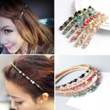 1PC New Multicolor  Alloy Crystal Gold Wire Winding Hit Color Super Flash Headwear Hair Bands Fashion Jewelry