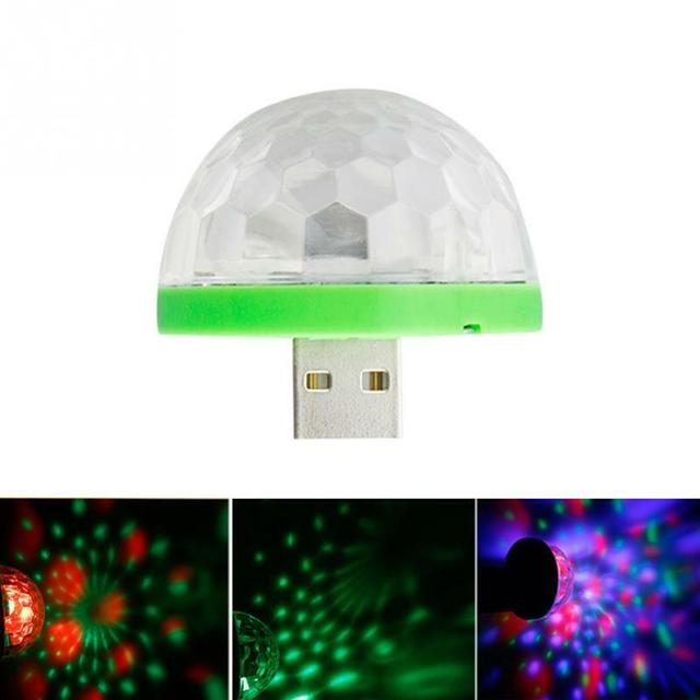 USB Mini LED Night Light Color Changed by Sound Music Magic Lights LED Mushroom 1