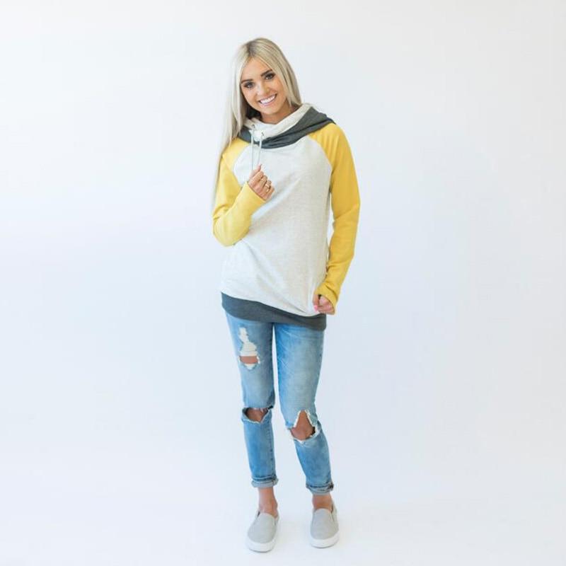 elsvios 2017 double hood hoodies sweatshirt women autumn long sleeve side zipper hooded casual patchwork hoodies pullover femme ELSVIOS 2017  hoodies, Autumn Long Sleeve HTB1pTQMdtqUQKJjSZFIq6AOkFXaT