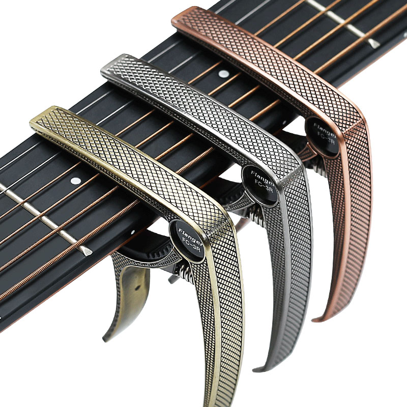 Купить с кэшбэком Guitar Capos Single-handed with Quick Change Lightweight Aluminum Alloy for Acoustic and Electric Guitars Guitar Parts Accessory