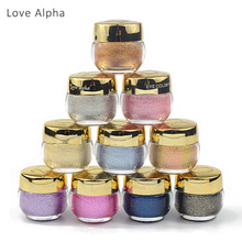 LOVE ALPHA 16 Colors Eye Shadow Professional Eyes Makeup Glitter Single Color Eyeshadow Gel Party Brand Cosmetics Flash Powder