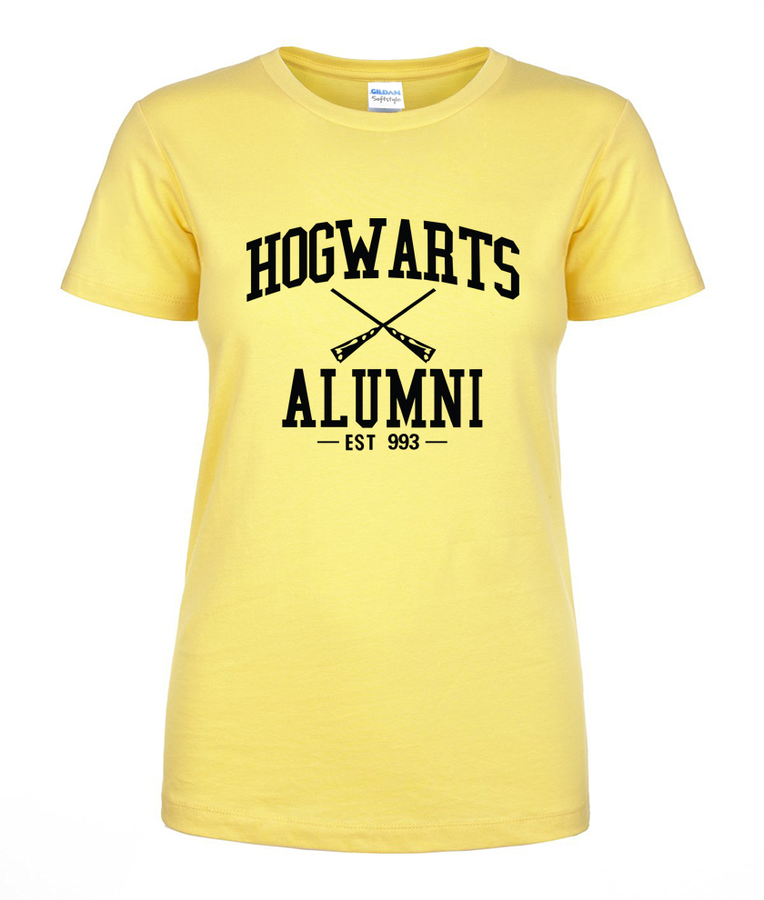 Hot Sale women t shirt Hogwarts Alumni printed 2019 summer short sleeve shirt casual 100% cotton high quality top tees