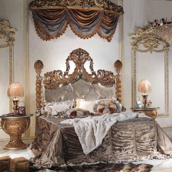 European Luxury Bedroom: European Style Luxury Imperial Wood Carved Bedroom Set Top