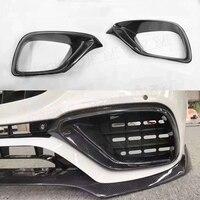 Carbon Fiber Front Bumper Air Vent Outlet Fog Cover Trim for Mercedes Benz E Class W213 E200 17 19 not for Original E63 AMG