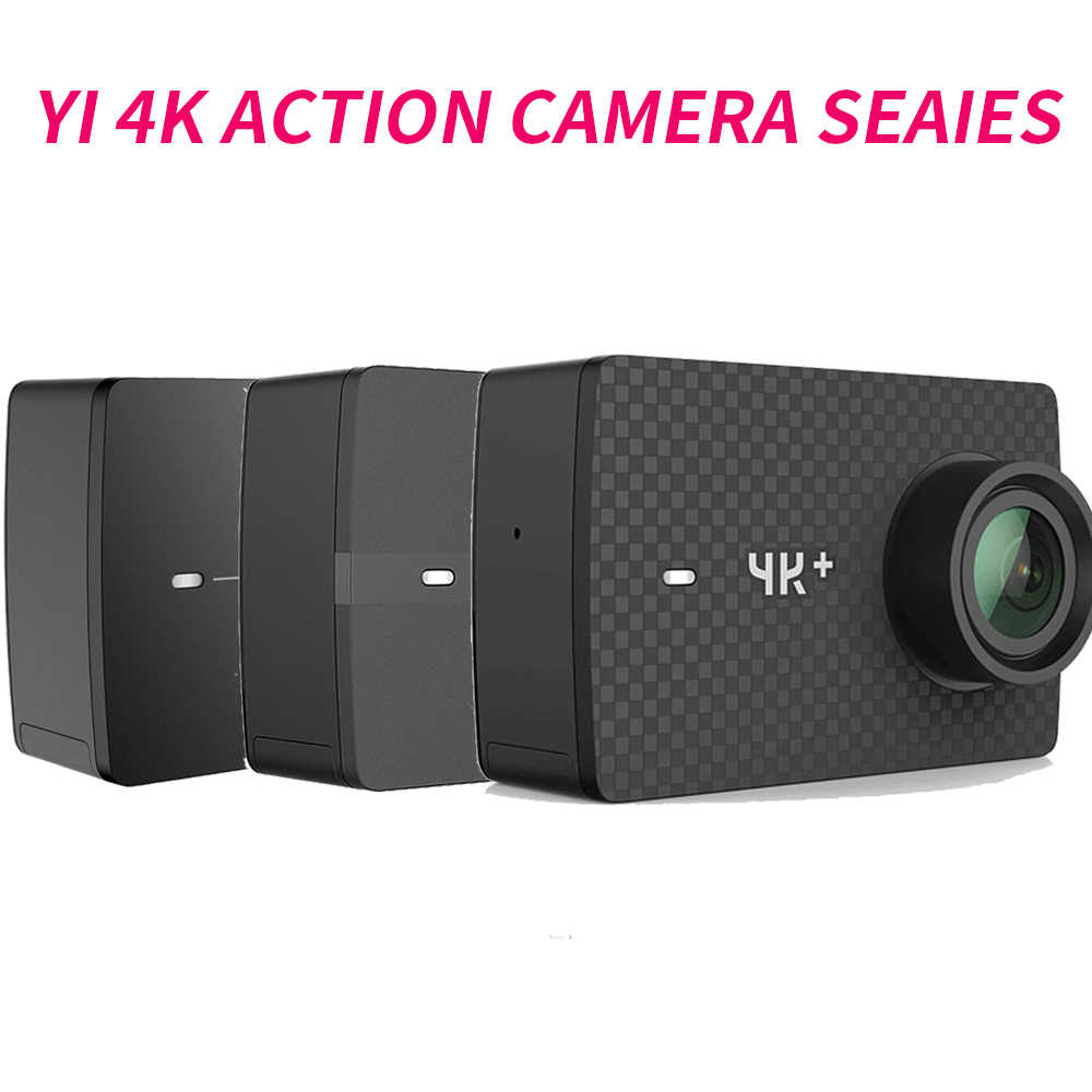 "YI 4 K + (Plus) Экшн-камера Xiaomi YI Lite 16MP Real 4 K Спортивная камера wifi Bluetooth 2 ""сенсорный ЖК-экран EIS 150 градусов объектив"