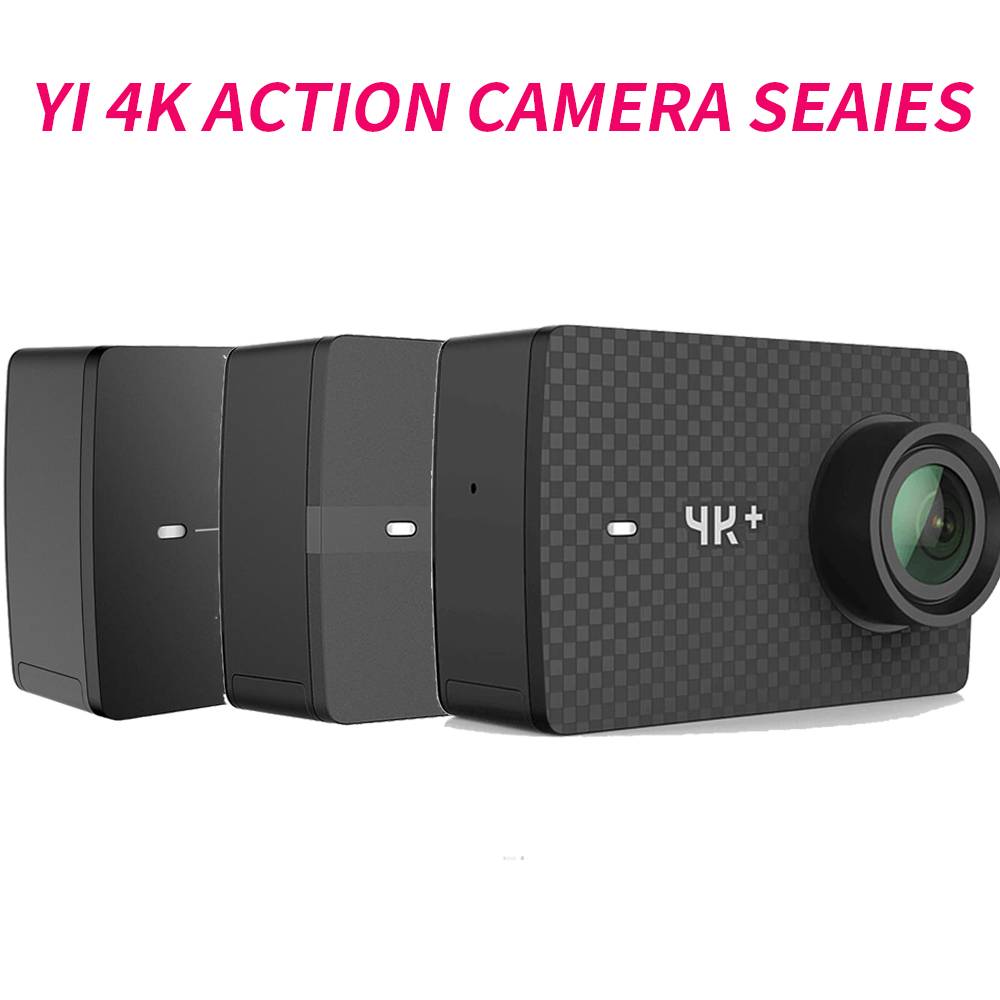 YI 4 K + (Plus) caméra d'action Xiaomi YI Lite 16MP réel 4 K caméra de sport WIFI Bluetooth 2