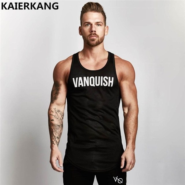 size 40 90e68 ae203 US $6.78 31% OFF|2018 sommer fitness Mens trägershirts Sleeveless Shirts  männer tank tops Bodybuilding fitness männer Slips workout tanktops tees in  ...