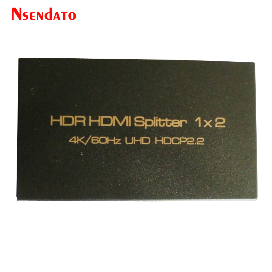 2 Port HDMI Splitter 1X2 1080P HDR Splitter Extender 1X2 1 in 2 out 4kx2k/60Hz HDMI Adapter Support HDCP2.2 3D For PC DVD STB 1 in 2 out ports hdmi 1 03b splitter