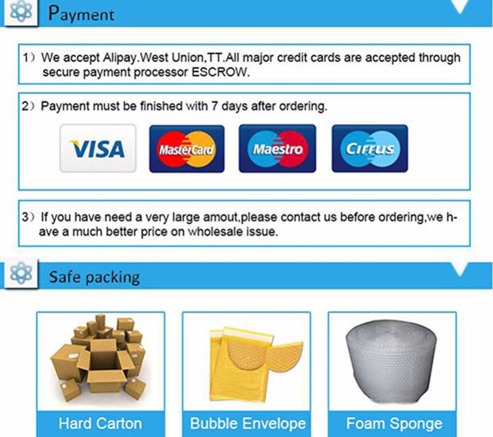 6 Payment Safe Packing