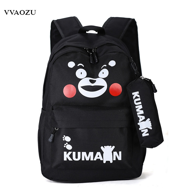 KUMAMON Backpacks Japan Anime Canvas Bear Schoolbag 13 Laptop Shoulder Bag for Teenager Boys Grils 5 Colors Rucksack Mochila ...