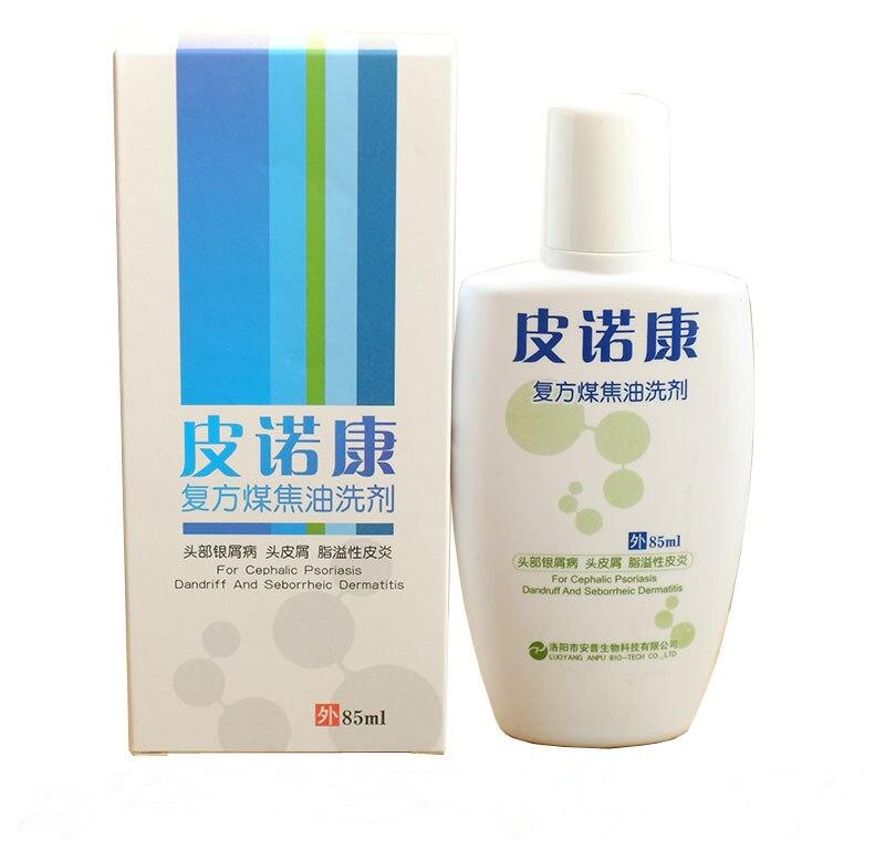 1% coal tar+herbs extract In the treatment of seborrheic dermatitis dandruff psoriasis Itching shampoo WQ016