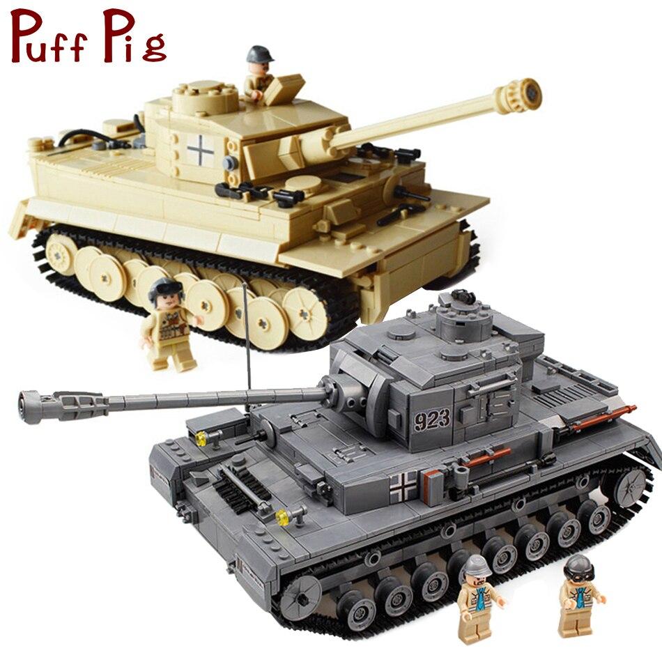 Military Deutschland Panzer PZKPFW-IV Krieg Tiger Tank Modell Bausteine Set Kompatibel Legoed Armee ww2 Fahrzeug Soldaten Kinder Spielzeug