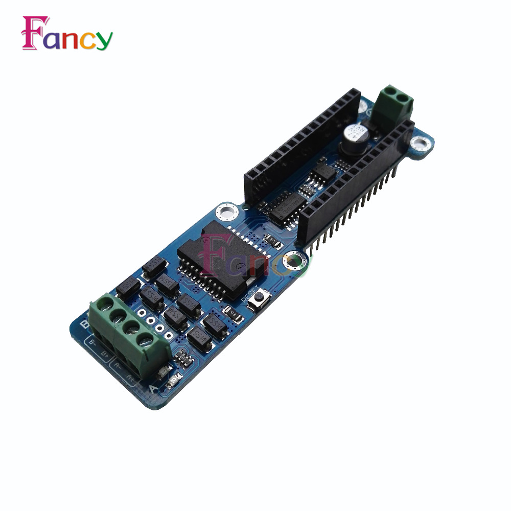 где купить NANO-L298P L298P 2A Dual Channel DC Stepper Motor Driver Shield Module 5V-12V PWM DC Stepper Driver Module For Arduino Nano 3.0 дешево