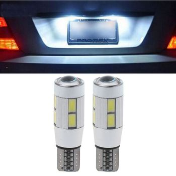 New 2 Pcs DC 12V T10 194 W5W 5630 LED 10 SMD Canbus Error Free Auto Car Side Wedge Lights Bulbs Lamp Car Styling High Quality
