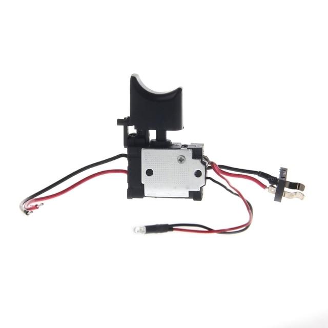 電気ドリル防塵速度制御プッシュボタントリガーパワーツール dc 7.2 24 v コードレスドリルスイッチ