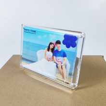 (2 units/pack) 4×6 inch Transparent Rectangle Acrylic Hot Selling Plexiglass Picture Displays With Magnetic PF011