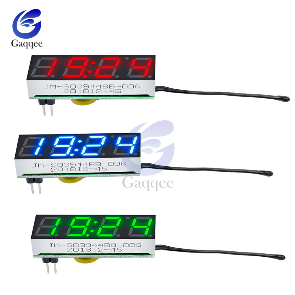 3 In 1 LED DS3231 DS3231SN Digital Tube Clock Temperature Voltage Module Time Thermometer Voltmeter Time Meter Board DC 5V-30V