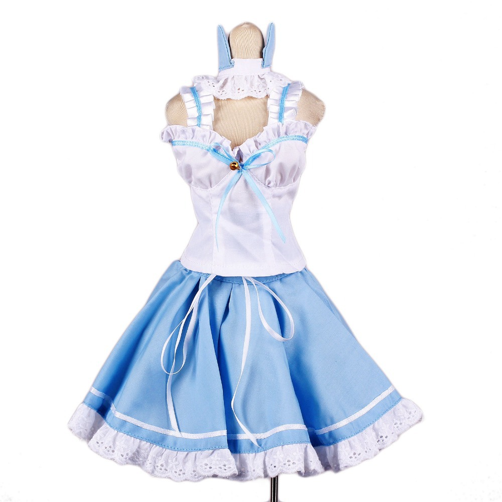 [wamami] 129# Light Blue&White Cat Ear Dress/Suit 1/3 SD DOD BJD dollfie цена