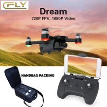 C-FLY CFLY Dream GPS RC DRONE Brushless Motor 5G WIFI FPV 800M 1080P HD Camera Follow me Mode Circle Flying Optical Flow(China)