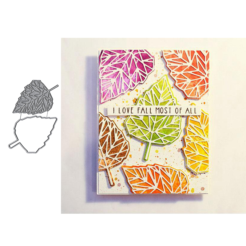Birch Leaf Metal Cutting Dies For DIY Scrarpbooking Embossing Paper Cards Decorative Crafts New 2019 Diecuts